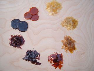 Shellac samples
