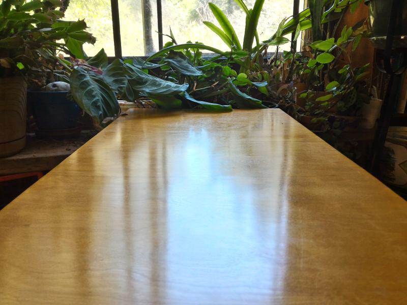 Table shellac finish